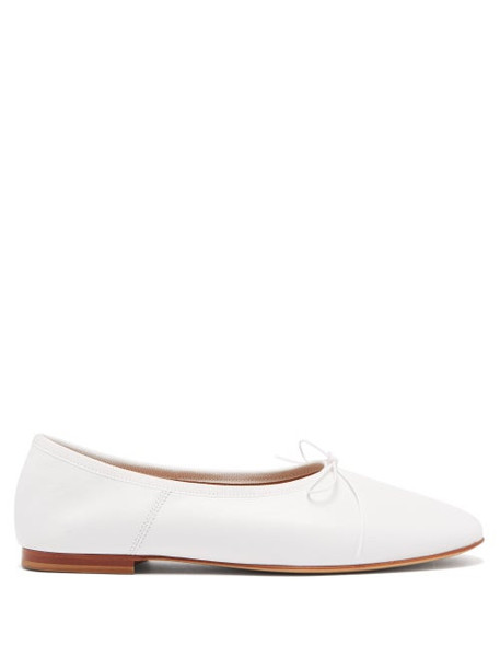 Mansur Gavriel - Dream Leather Ballet Flats - Womens - White