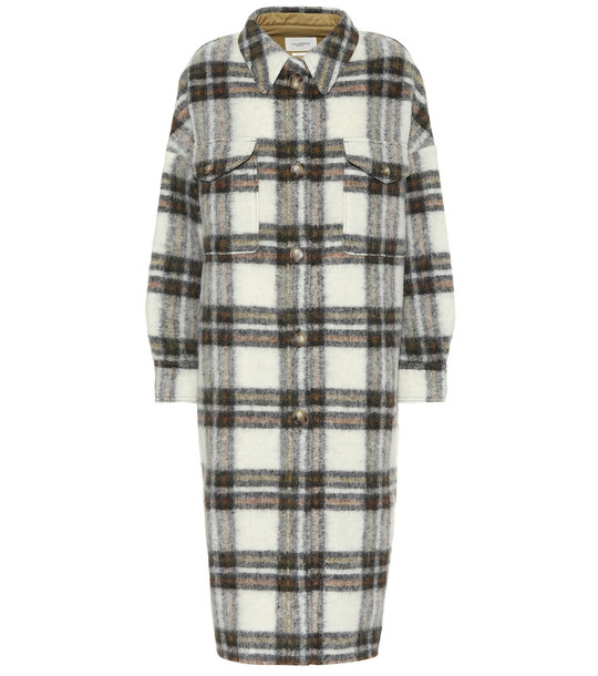 Isabel Marant, Étoile Gabrion checked wool coat in beige