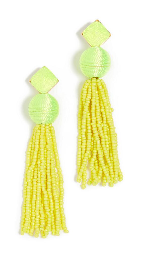 BaubleBar Azura Tassel Earrings in yellow