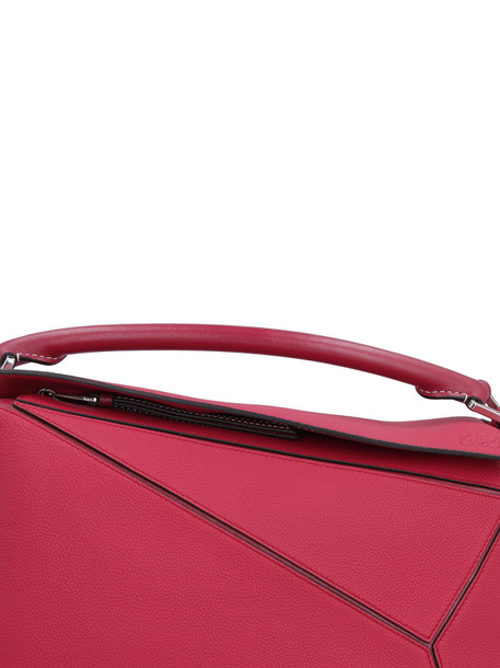 Loewe Puzzle Leather Handbag in red