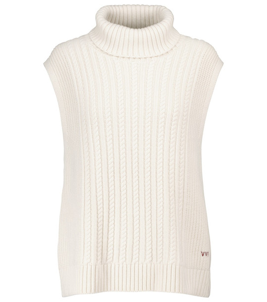 Victoria Victoria Beckham Cable-knit vest in white