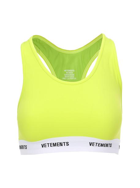 Vetements Sports Bra in yellow