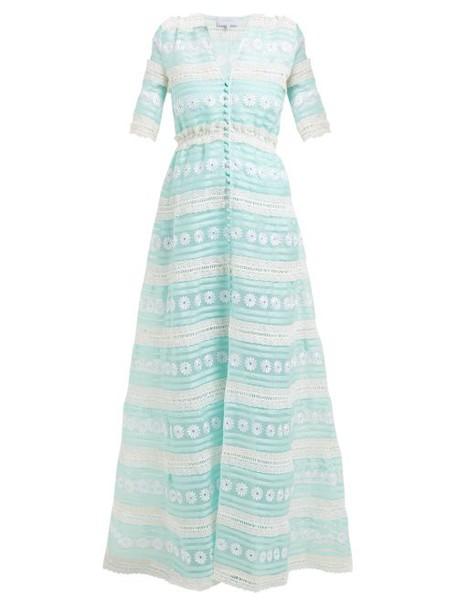 Luisa Beccaria - Silk Organza Gown - Womens - Green White