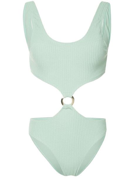 Duskii Julia cut-out swimsuit in green