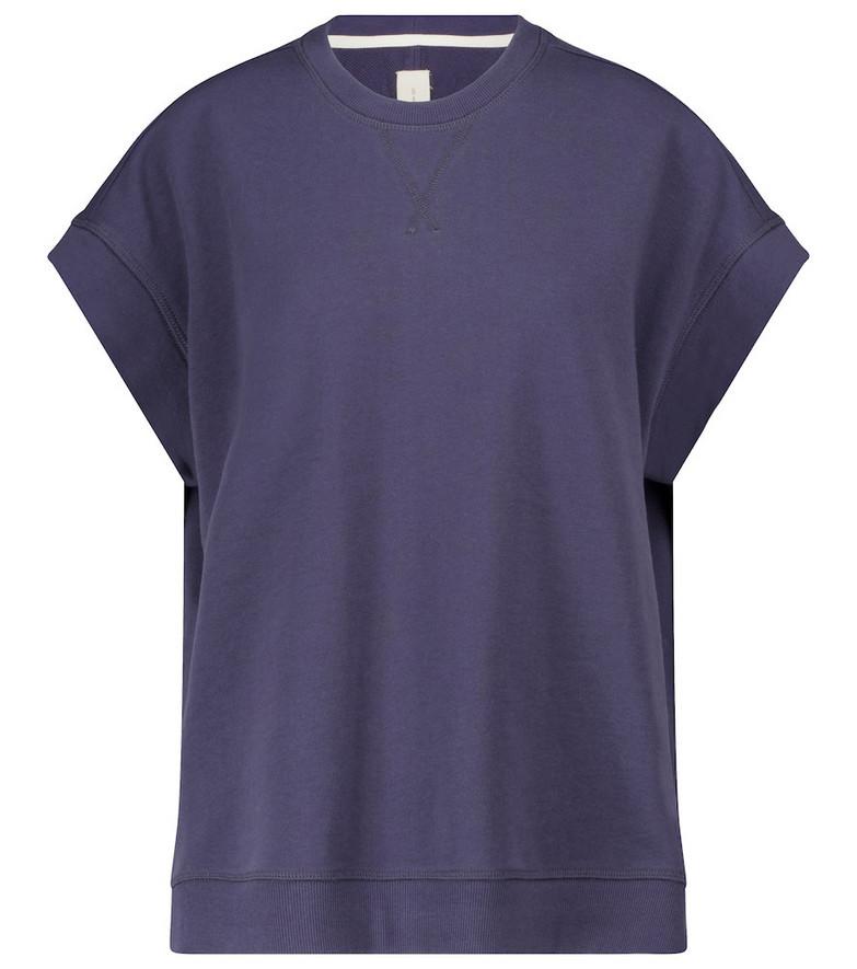 Lee Mathews Vince organic fleece sweater in blue