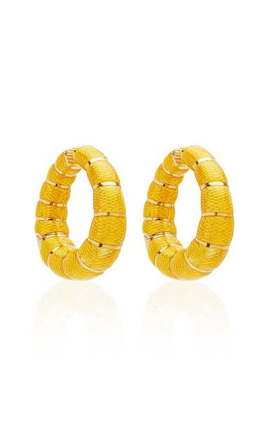 Eleuteri Vintage Bulgari 18K Yellow Gold and Enamel Earrings