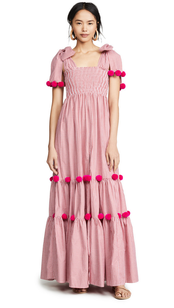 SUNDRESS Pippa Long Dress in pink / red