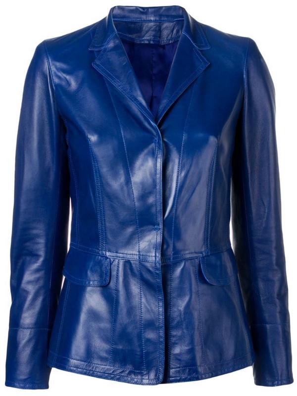 Sylvie Schimmel classic fitted blazer in blue