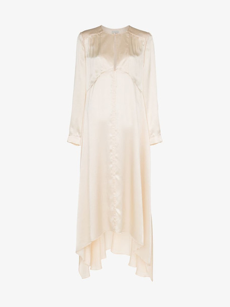 Le Kasha Turfan asymmetric dress in neutrals