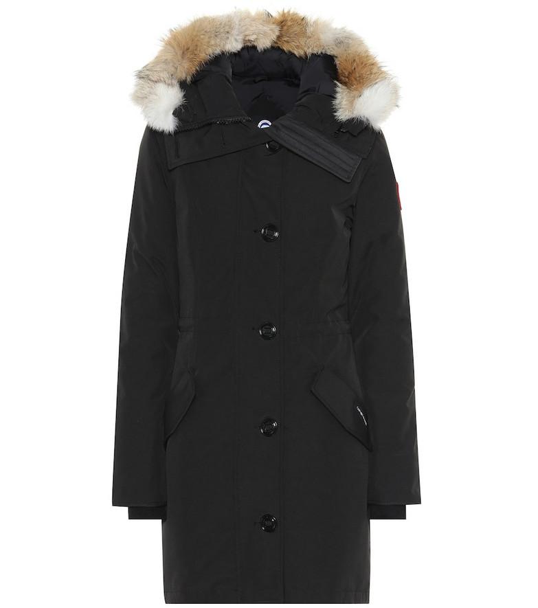 Canada Goose Rossclair fur-trimmed parka in black