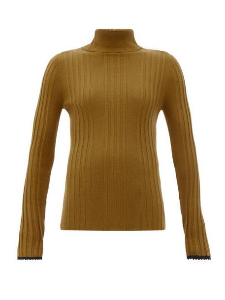 Proenza Schouler - Rib-knitted Silk-blend Sweater - Womens - Brown