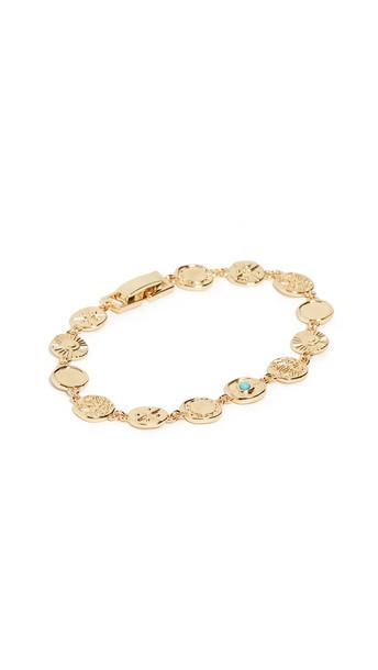 Gorjana Cruz Mixed Coin Bracelet in blue
