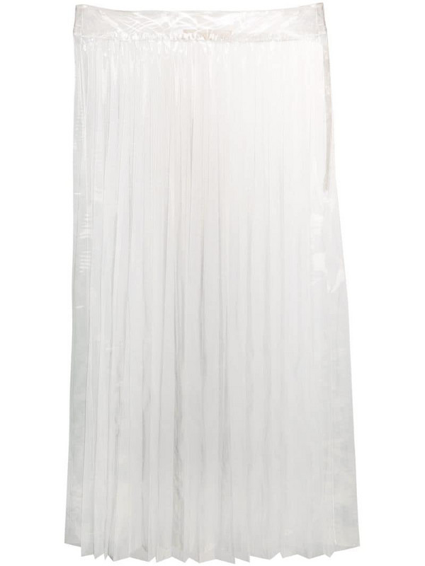 Ssheena sheer pleated skirt in neutrals