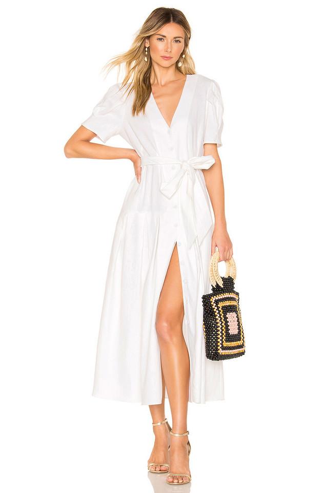 Petersyn Jenna Dress in white