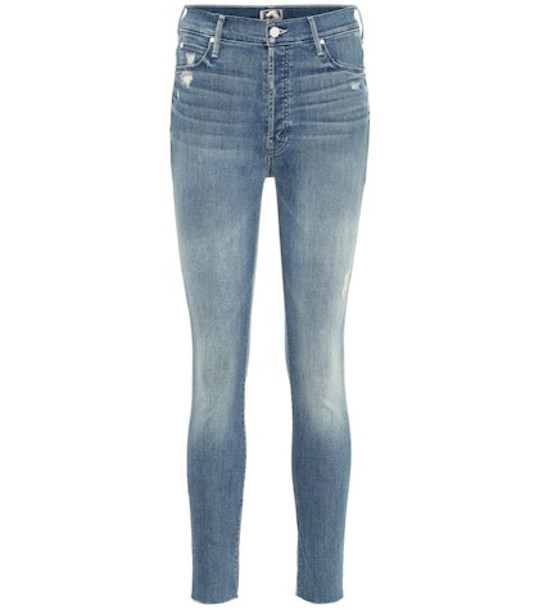 Mother Stunner high-rise skinny jeans in blue
