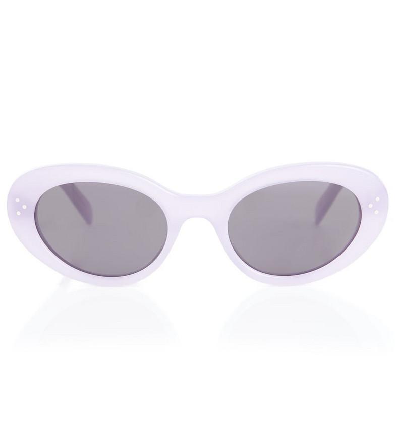 Celine Eyewear Oval sunglasses in purple