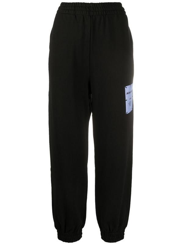 MCQ graphic print track pants in black