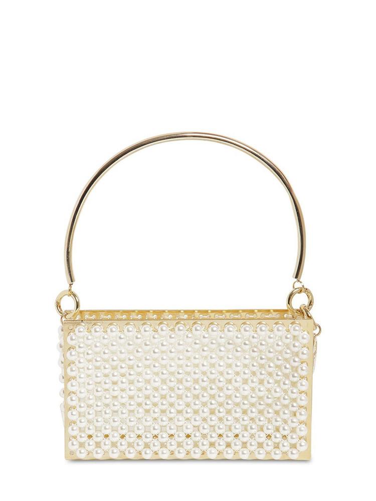 ROSANTICA Calipso Embellished Top Handle Bag in ivory