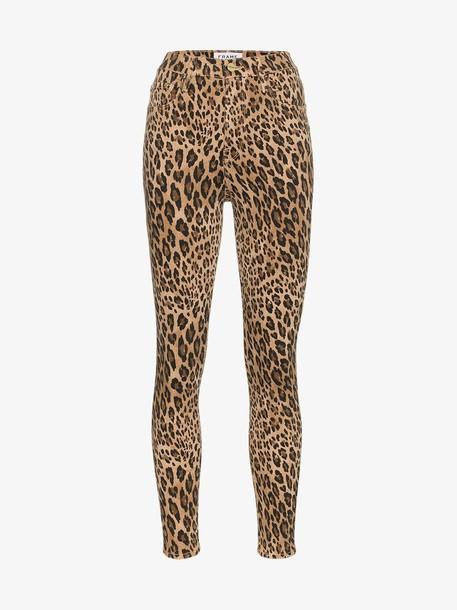 Frame Denim FRAME Leopard Print Skinny Jeans