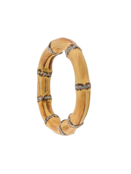 Bottega Veneta wood-effect bangle in brown