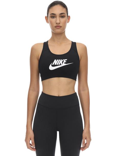 NIKE Swoosh Futura Sports Bra in black