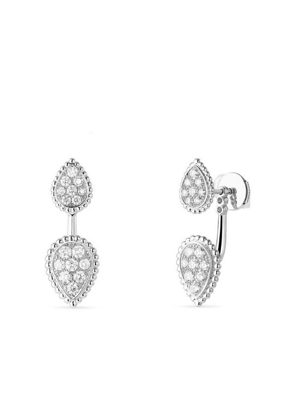 Boucheron 18kt white gold diamond Serpent Bohème single earring in silver