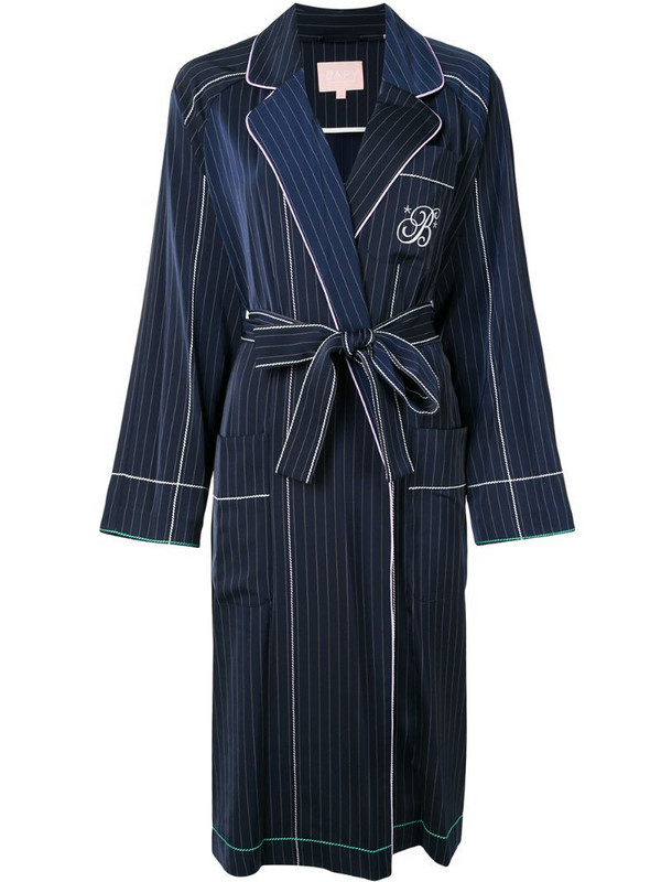 BAPY BY *A BATHING APE® striped wrap-style jacket in blue
