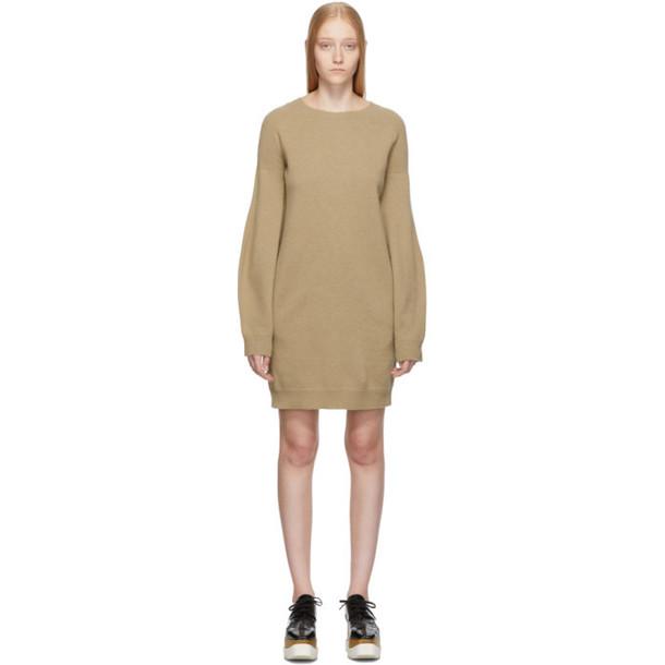 Stella McCartney Beige Simple Sweater Dress