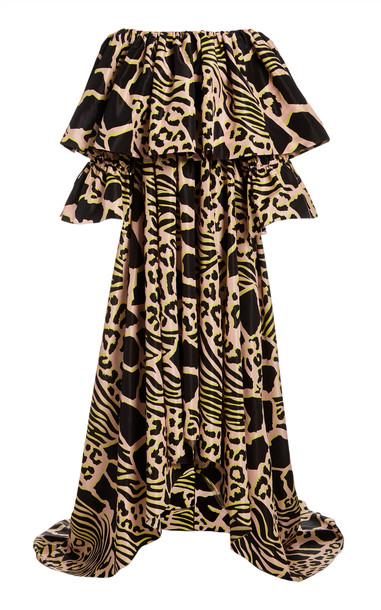 Adam Lippes Printed Silk-Taffeta Maxi Dress in print