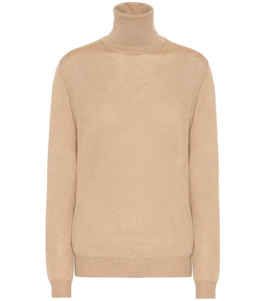 Stella McCartney Virgin wool turtleneck sweater in beige