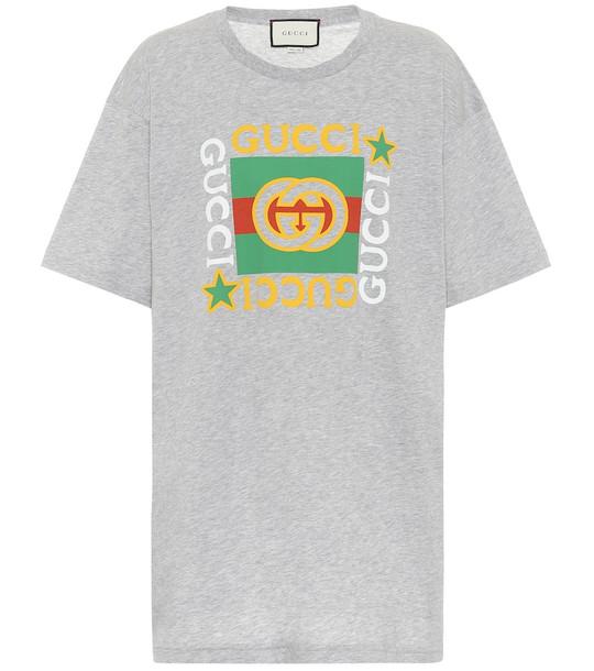 Gucci Logo cotton T-shirt in grey