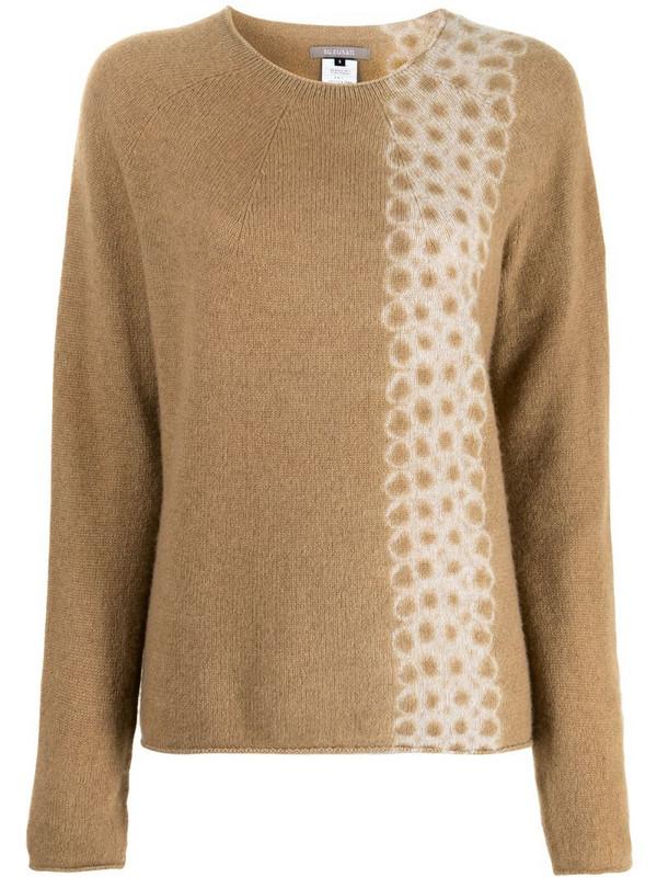 Suzusan tie dye-print cashmere jumper in brown