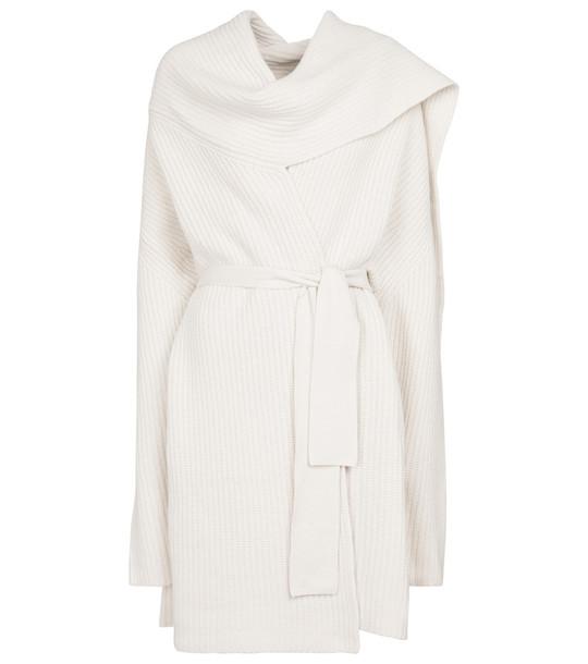 Altuzarra Battersea wool and cashmere longline cardigan in white