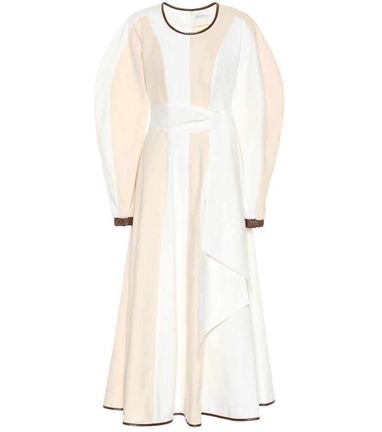 Rejina Pyo Maren cotton midi dress in beige