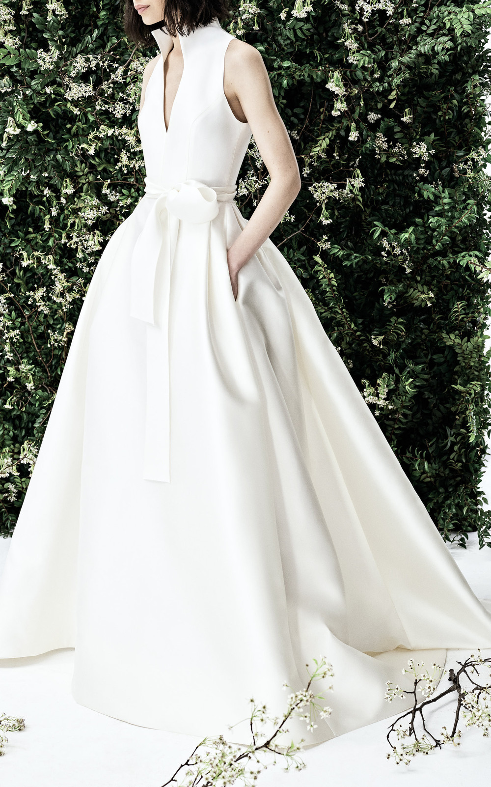 Carolina Herrera Lydia Gown in white