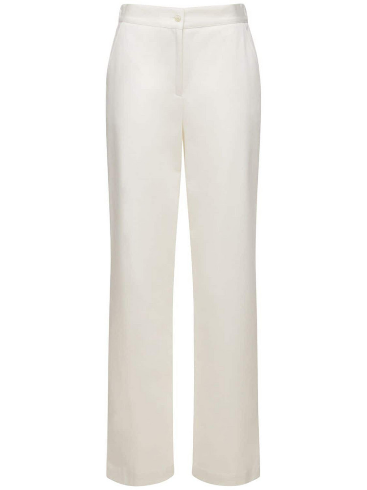 LARDINI Norma Cotton Straight Pants in white