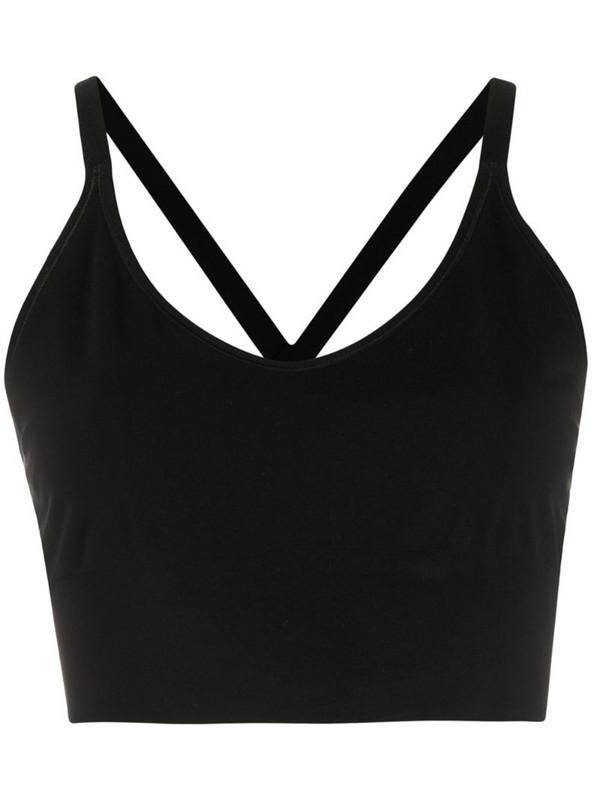 Filippa K Soft Sport crossback seamless midi top in black