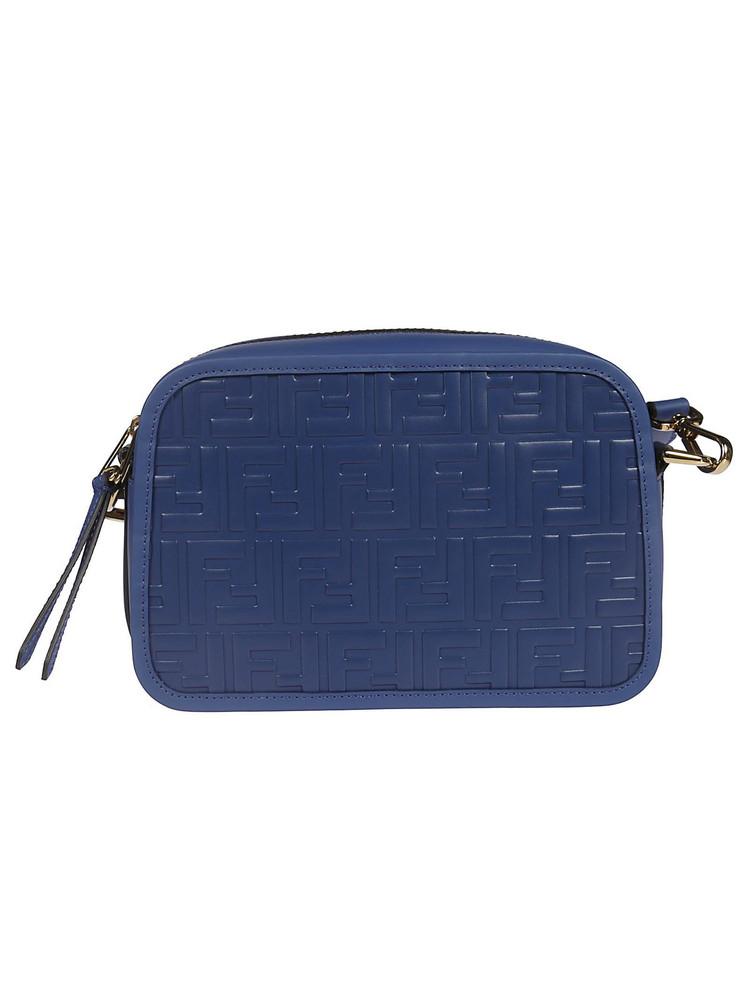 Fendi Ff Logo Shoulder Bag in blue