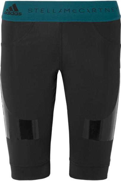 adidas by Stella McCartney - Parley For The Oceans Hybrid Vinyl-paneled Climalite Shorts - Black