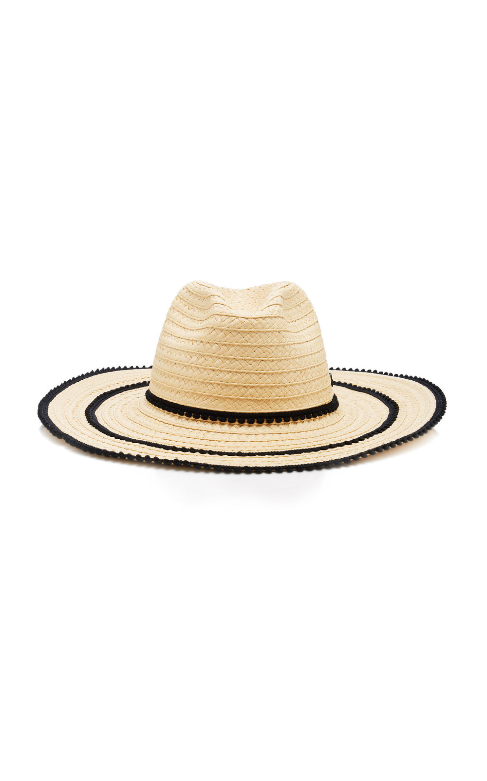 Filu Hats Batu Tara Picot-Trimmed Straw Hat in neutral