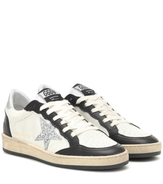 ball sneakers leather white shoes