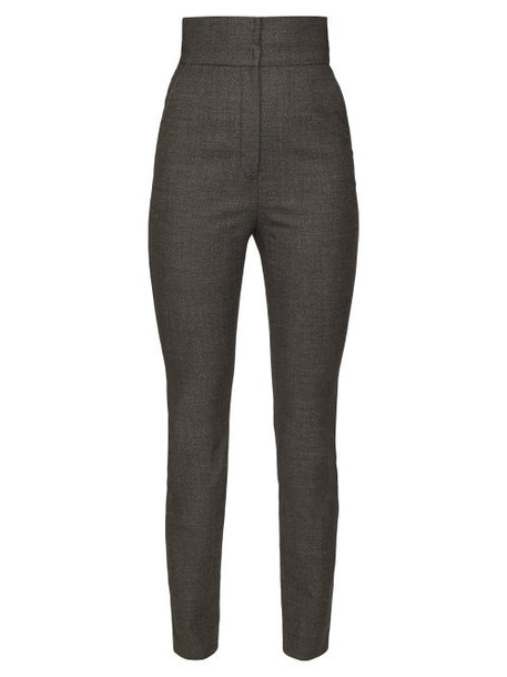 Dolce & Gabbana - High Rise Tweed Trousers - Womens - Grey