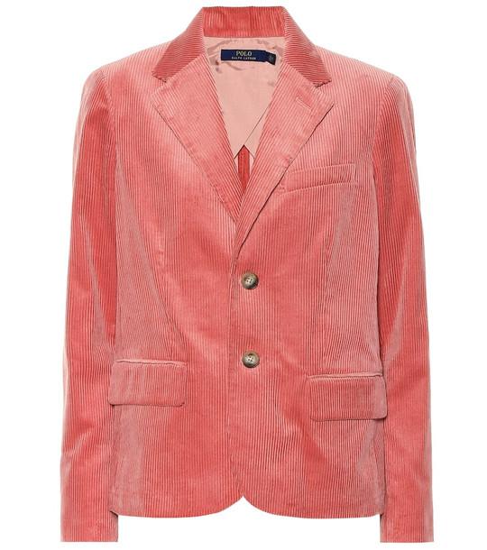 Polo Ralph Lauren Cotton corduroy blazer in pink