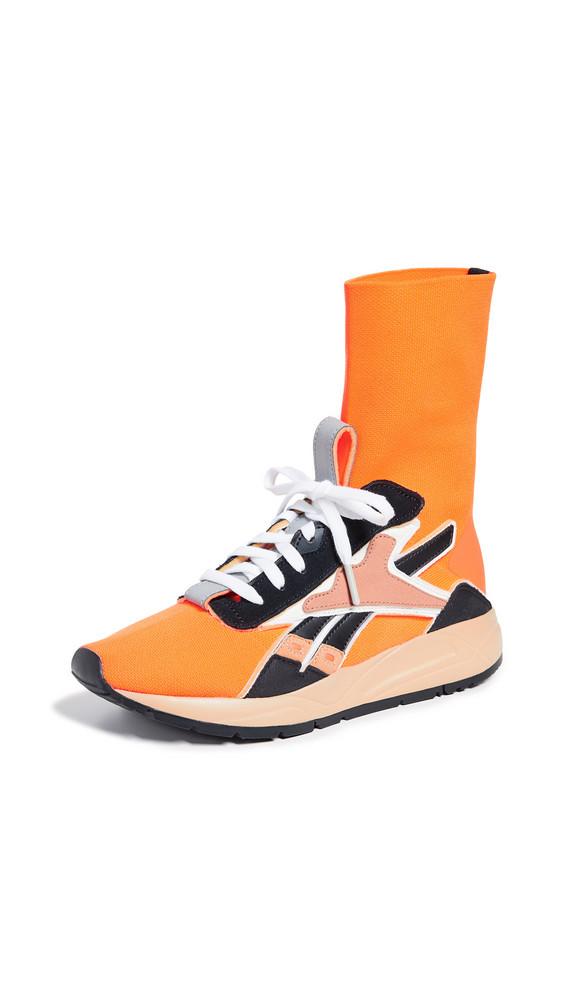 Reebok x Victoria Beckham VB Bolton Sock Sneakers in black / camel / orange