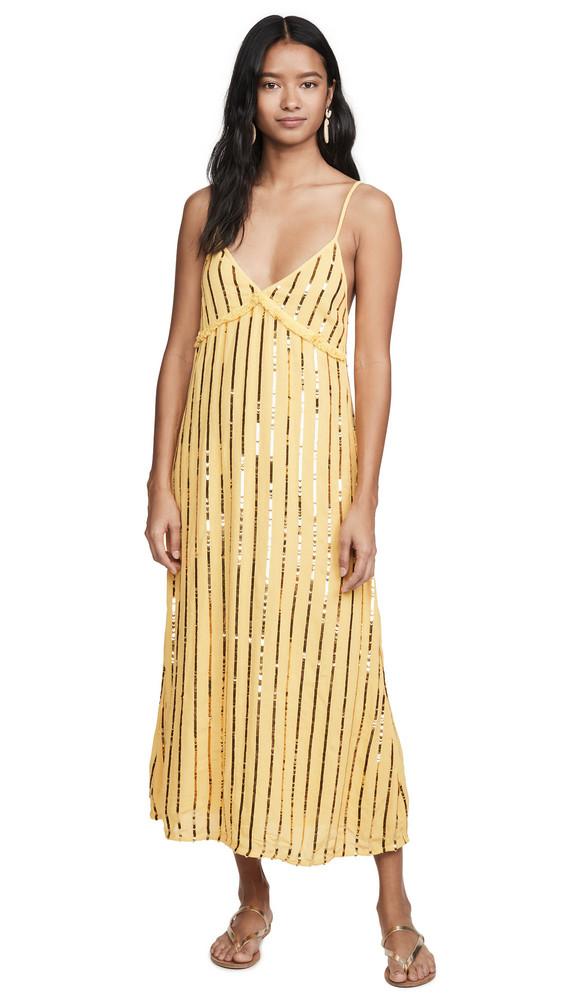 SUNDRESS Madeline Long Dress in gold / yellow
