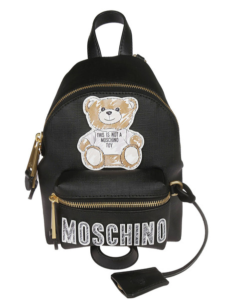 Moschino Teddy Bear Patch Backpack in black