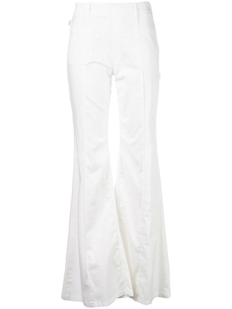 Chloé Chloé high waist flared jeans - White