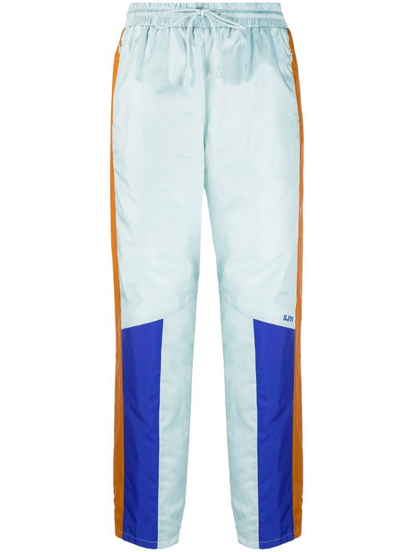 SJYP multi tone track pants in blue