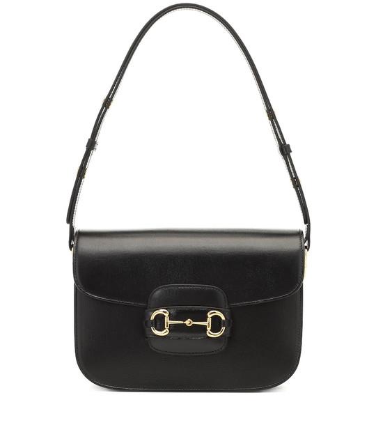 Gucci 1955 leather shoulder bag in black