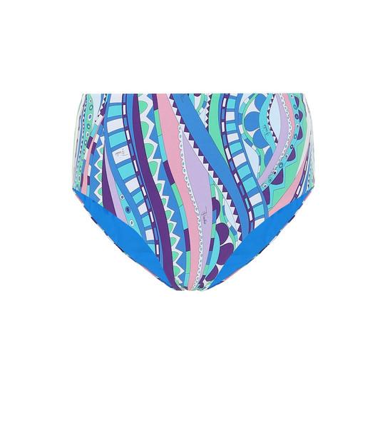 Emilio Pucci Beach Printed bikini bottoms in blue